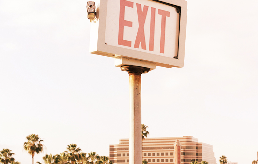 Exit skylt