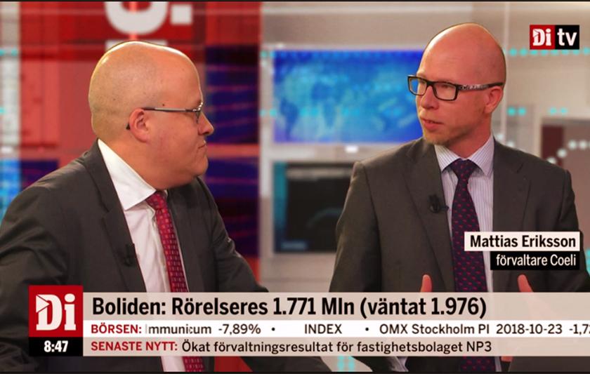 två män i tv